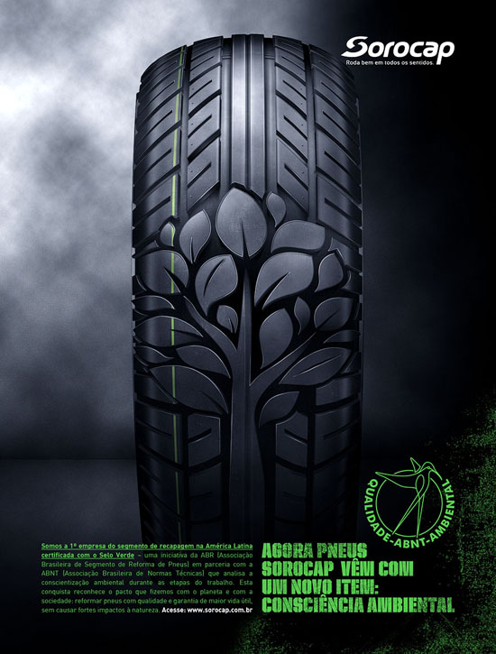Green Tyre Ad