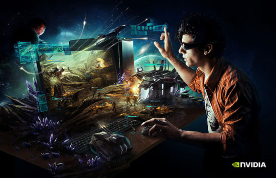 Nvidia 3D Illustration Desktop Ad