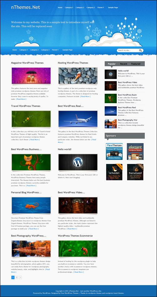 WP-Iris WordPress Theme