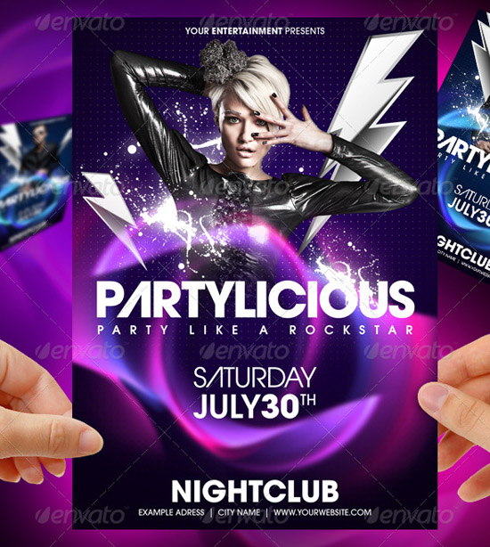 Partylicious Party Flyer template