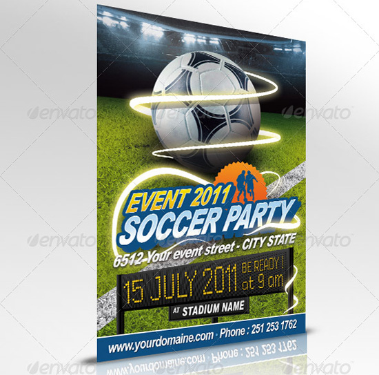 Soccer Event Flyer Template