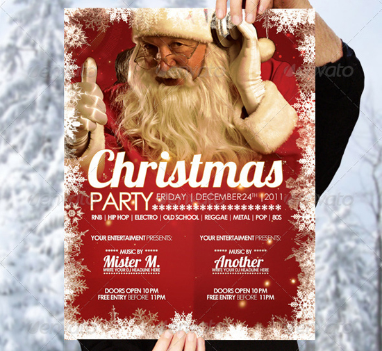 top 20 christmas flyer templates for 2012. Black Bedroom Furniture Sets. Home Design Ideas