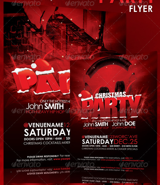 Top  Christmas Flyer Templates For   PixelsCom