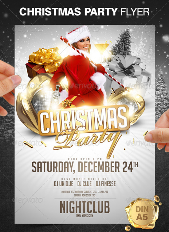 Top 20 christmas flyer templates for 2012 56pixelscom for Christmas party flyer templates