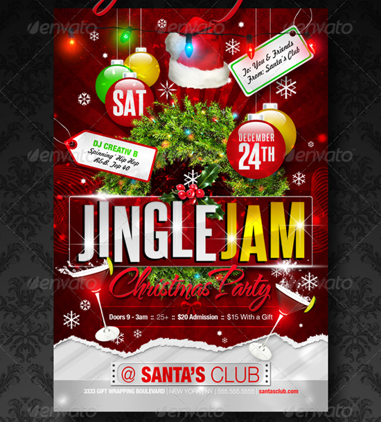 Top 20 Christmas Flyer Templates For 2012 56pixels