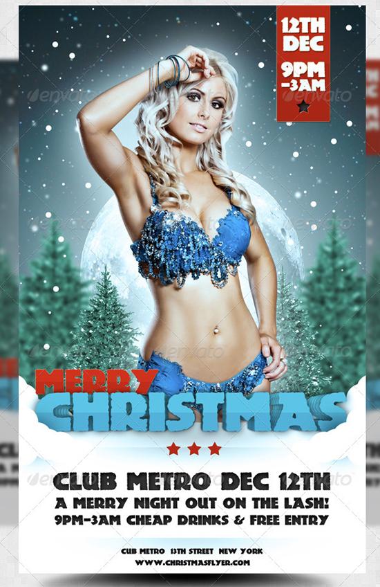 Merry Christmas Winter PSD Flyer Template
