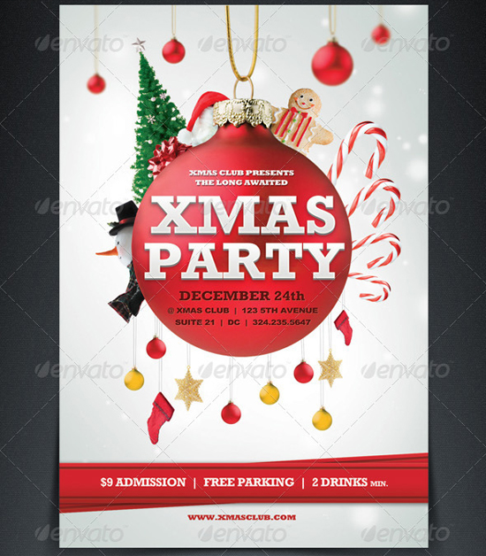 Top 20 Christmas Flyer Templates for 2012 | 56pixels.com