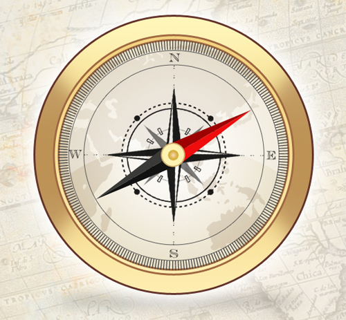 Create an Elegant/Vintage Compass Icon in Photoshop