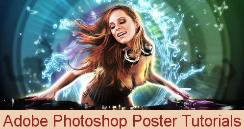 Adobe photoshop poster tutorials