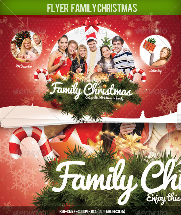 Flyer Christmas Family