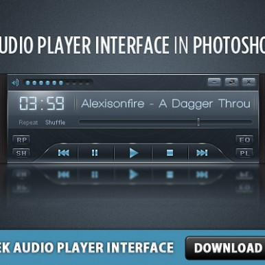Audio-Player-Interface-PSD-Web-Element