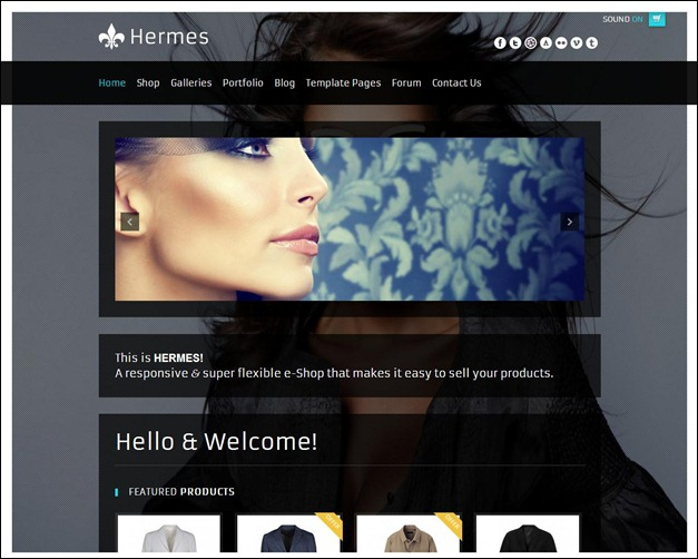 Hermes - Fullscreen e-Commerce