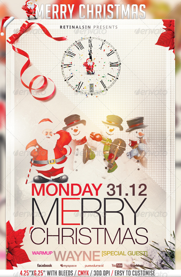 Best Christmas Flyer Templates For   PixelsCom