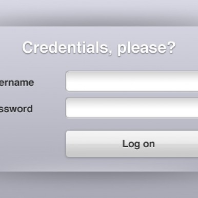 Clean-Login-Interface