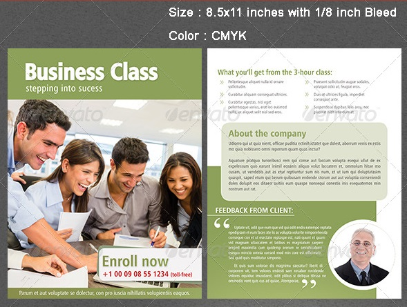 corporate flyer template in 5 colors