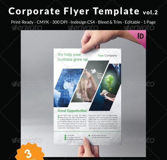 corporate flyer template vol.2