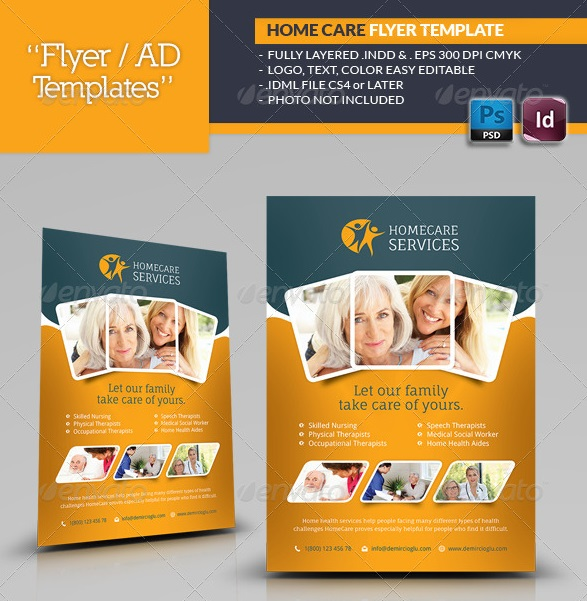 home care brochure template - fantastic indesign flyer templates