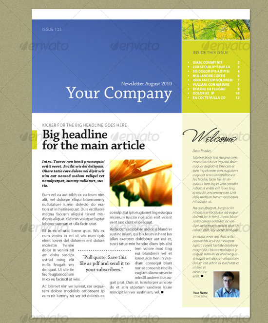 ... newsletter templates indesign adobe jobs newsletter templates free