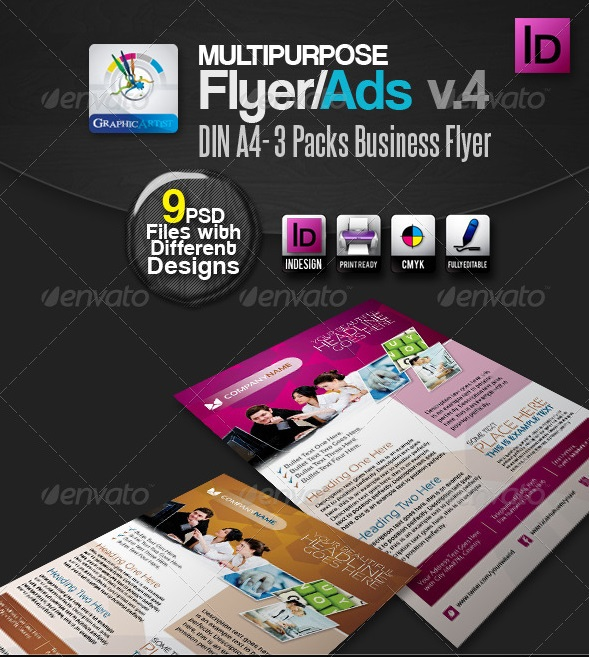 multipurpose indesign flyers/ads pack