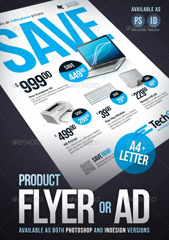 Fantastic InDesign Flyer Templates – Product Flyer