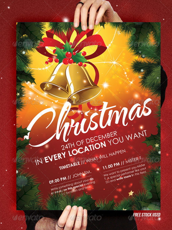 Top  Christmas Party Flyer Templates  PixelsCom
