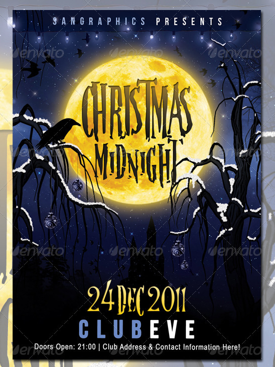 Christmas Midnight Flyer Template