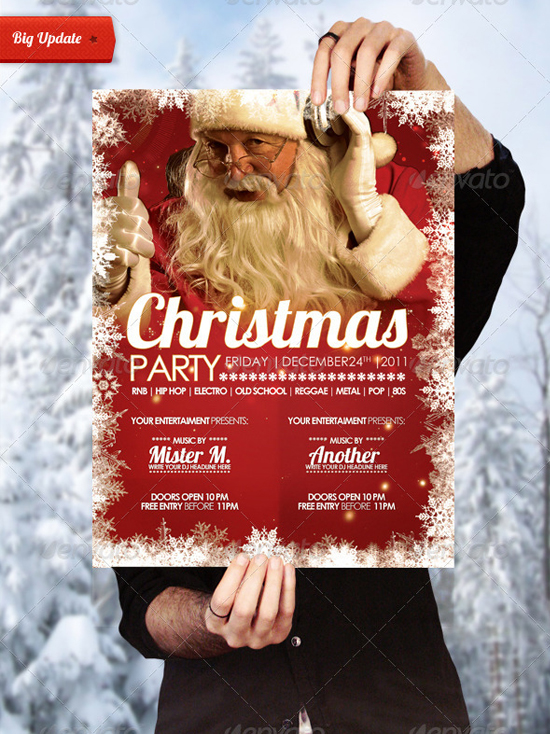 Top 10 Christmas Party Flyer Templates 56pixels
