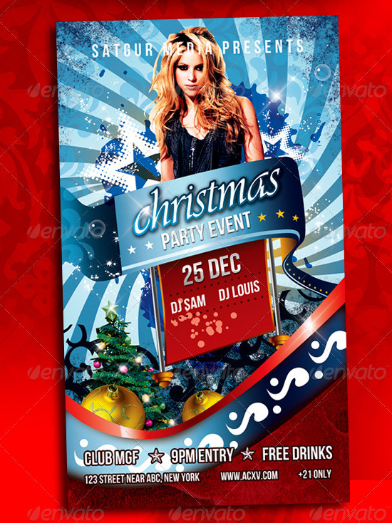 top 10 christmas party flyer templates