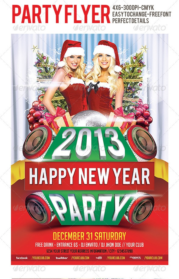 2013 Party Flyer Template
