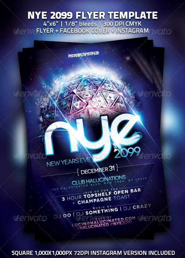 30 Best New Year Flyers Of 2013 | 56Pixels.Com