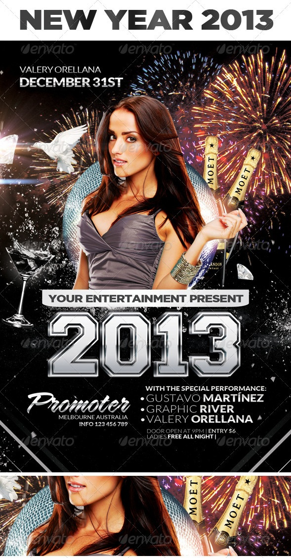 New Year Eve Party - Flyer and FB Cover