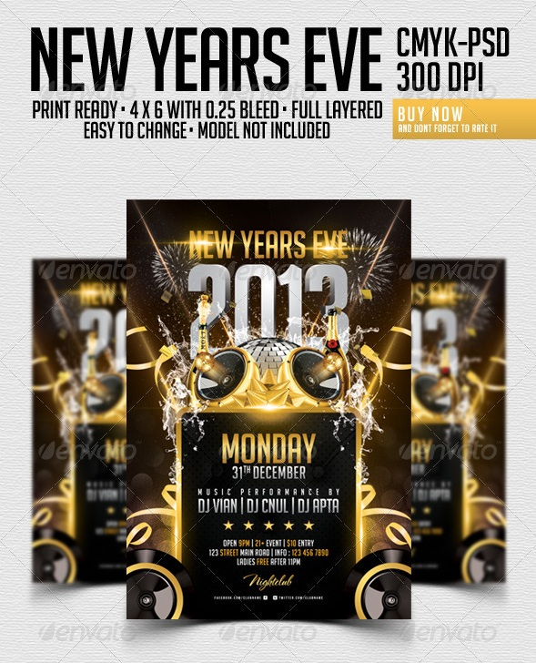 Best New Year Flyers Of   PixelsCom
