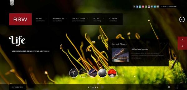 full screen portfolio wordpress theme 14