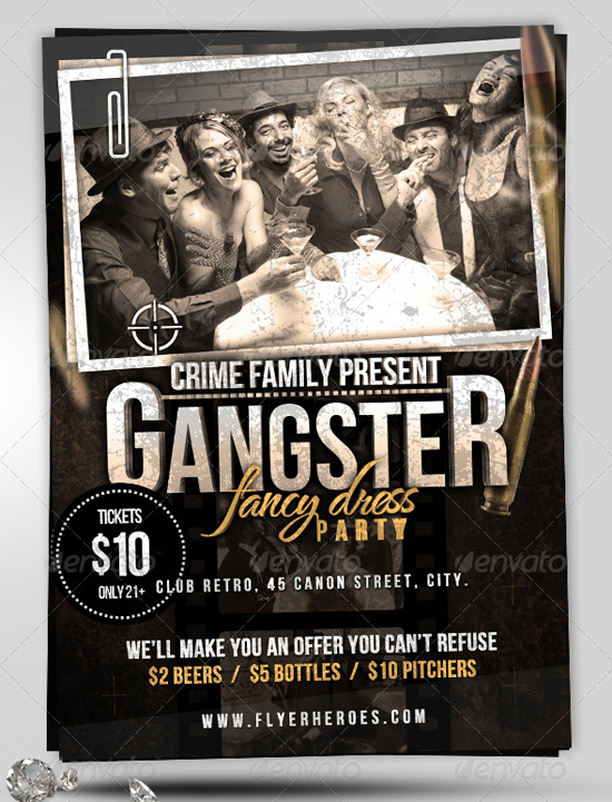 Crime Family Gangster Flyer Template