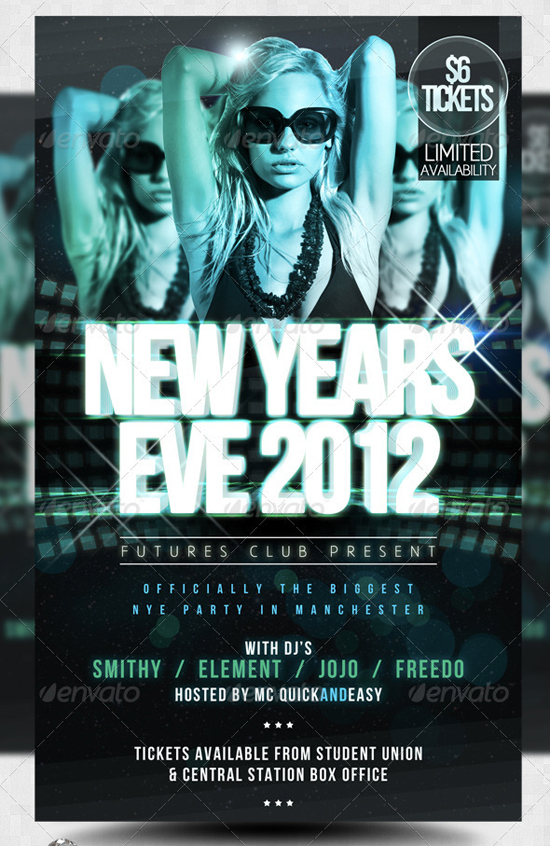 Future NYE New Years Eve Flyer Template