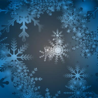 Blue-Snowflake-Winter-Vector-Background