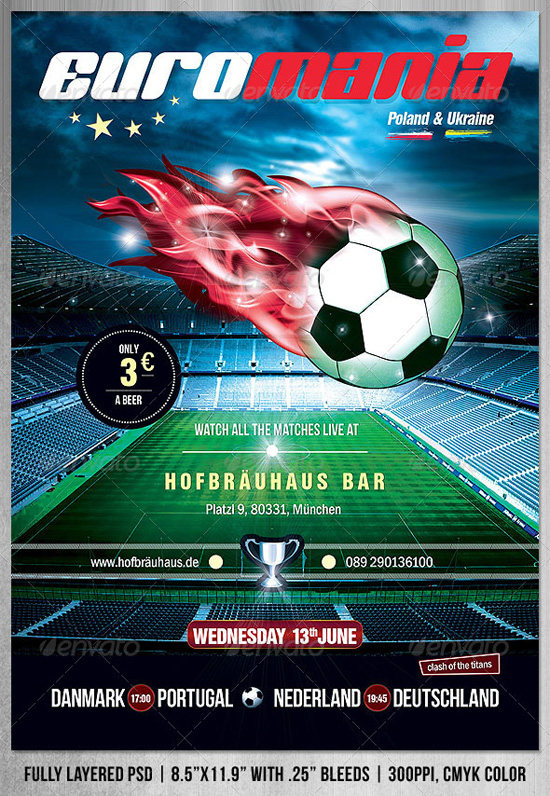Top  Soccer  Football Flyer Templates  PixelsCom
