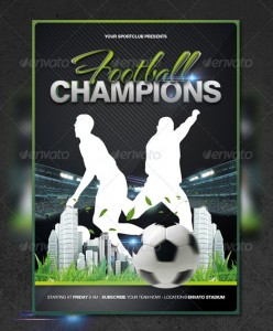 ... Football Sports Flyer Template 248x300 ...