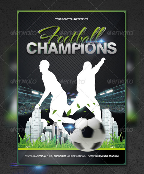 Top 20 Soccer Football Flyer Templates – Competition Flyer Template