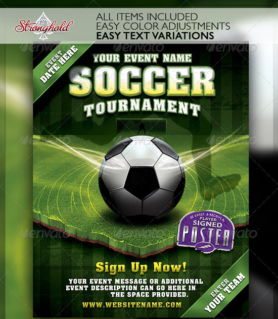 Top 20 Soccer / Football Flyer Templates | 56Pixels.Com
