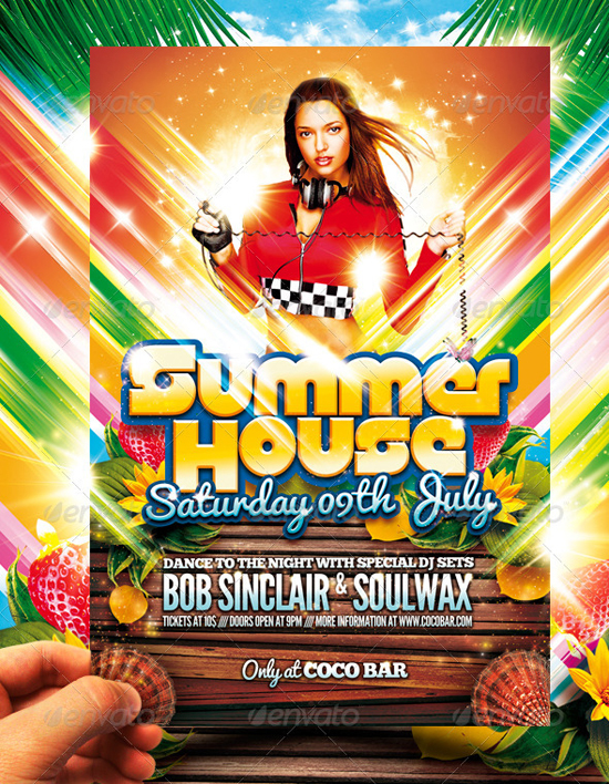 House party template top 50 summer beach party flyer templates