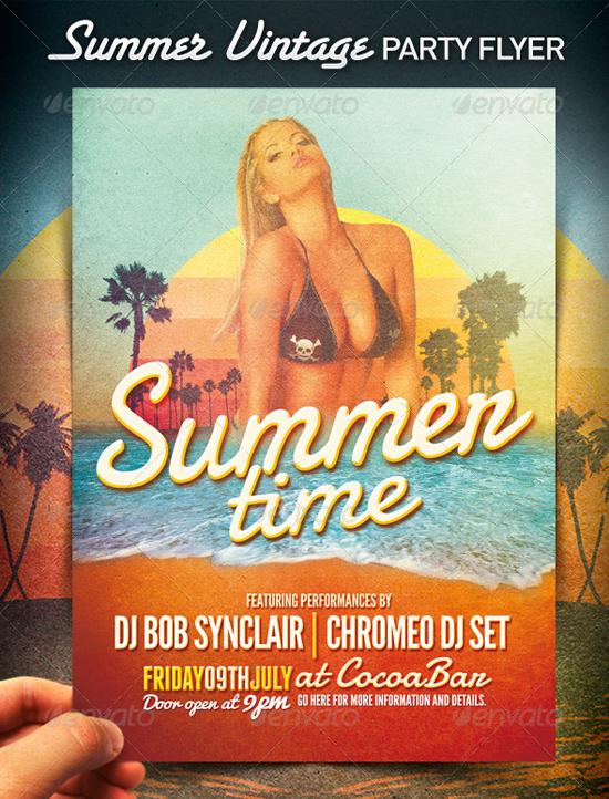 Summer Vintage Flyer Template
