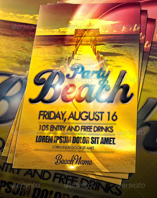 Amazing Summer Beach Party Flyer Template