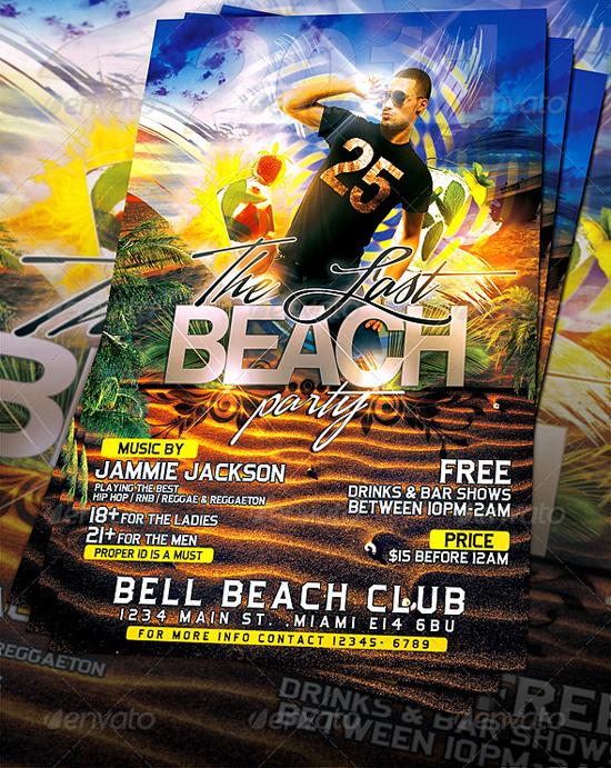Top 50 Summer Beach Party Flyer Templates 56pixels