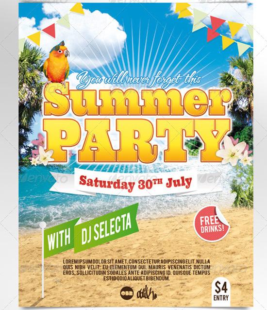 Summer Beach Party Flyer 2
