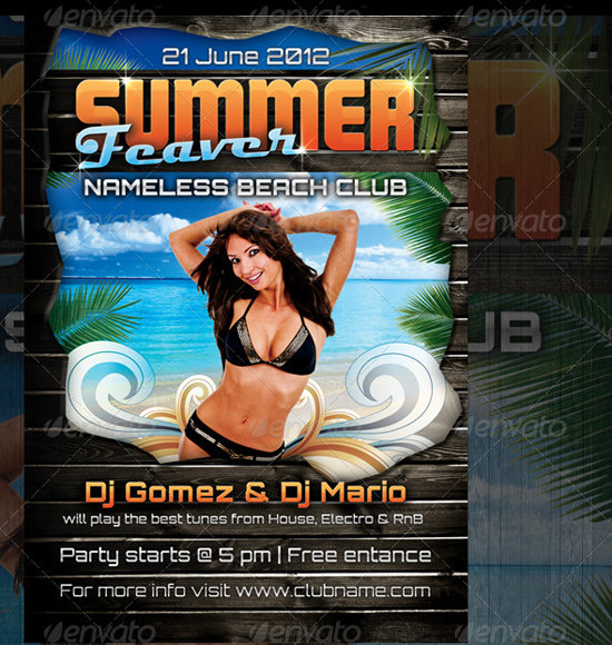 Summer Feaver Party Flyer Template