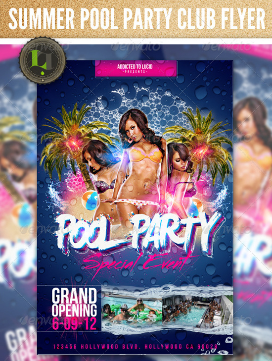 Top  Summer Beach Party Flyer Templates  PixelsCom