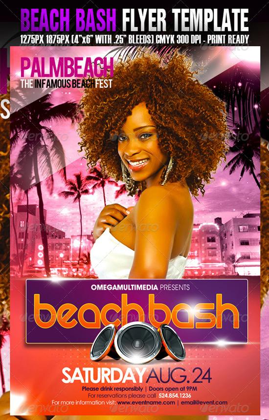 top 50 summer beach party flyer templates