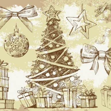 Vintage-Hand-Drawn-Christmas-Vector-Elements
