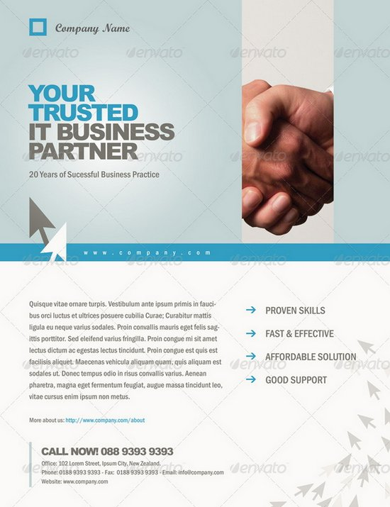 Business Flyers Templates  BesikEightyCo